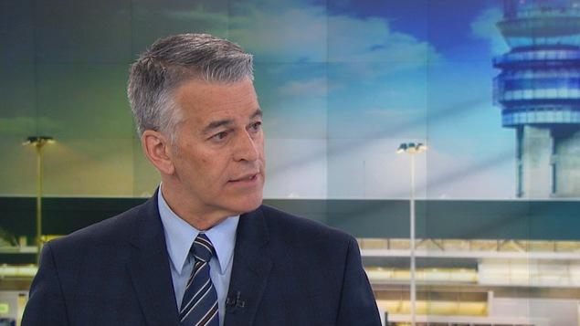 Le vice-président aux infrastructures aéroportuaires d'Aéroports de Montréal, Pierre-Paul Pharand, en entrevue à RDI.