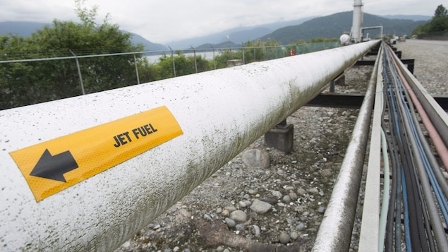 Le projet de pipeline Trans Mountain aboutit à Burnaby, en Colombie-Britannique.