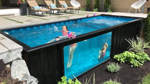 R volutionner la piscine avec un conteneur ici radio - Photo des piscines ...