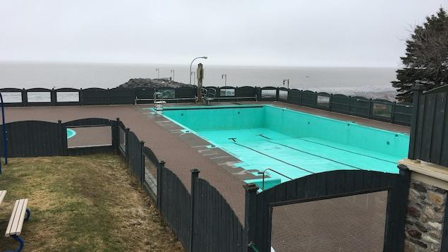 La piscine extérieure de la Municipalité de Notre-Dame-du-Portage