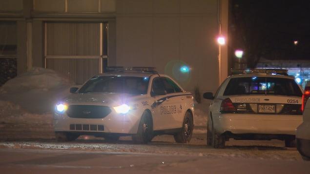 Des policiers à l'Université Laval