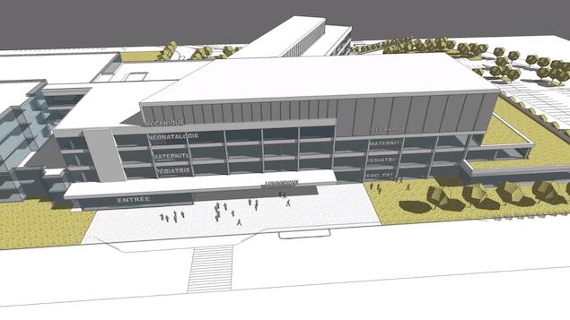 Le concept architectural du futur centre mère-enfant du CHUS-Hôpital Fleurimont