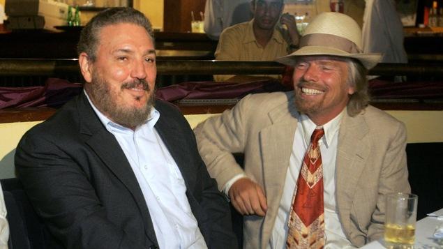 « Fidelito » Castro (gauche), en compagnie du milliardaire Richard Branson.
