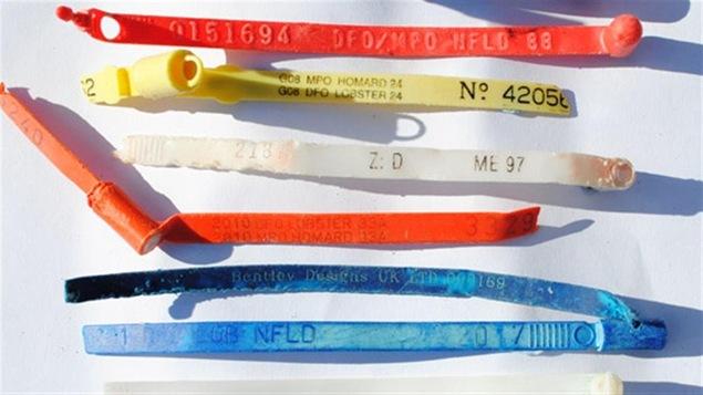 Des étiquettes en plastique