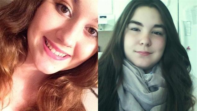 Mélissa Prévost, 14 ans, et Jennyfer Pichette-Mercier, 12 ans.