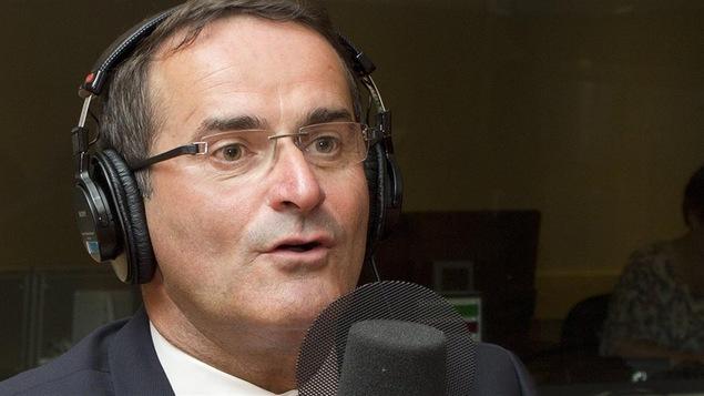 Jean Lapierre à l'émission « Médium large » en septembre 2014 (archives)