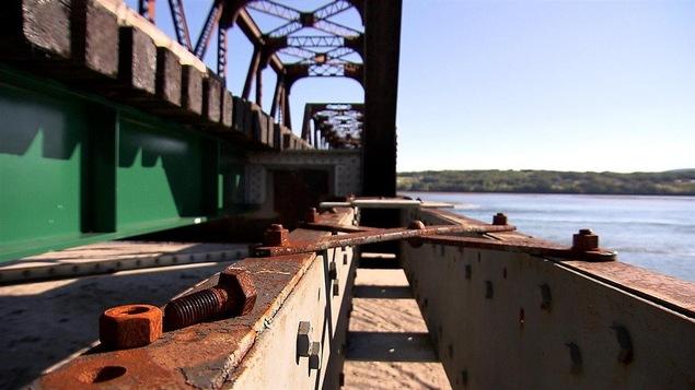 Le rail gaspésien entre Gaspé et Percé est en piètre état.