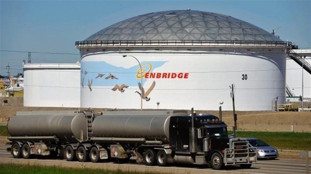 Un réservoir d'Enbridge à Edmonton.