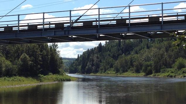 Pont multifonctionnel de la rivière Matane