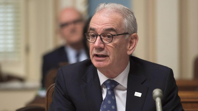 Robert Lafrenière, commissaire de l'Unité permanente anticorruption (UPAC), le 4 mai devant la commission parlementaire en sécurité publique à l'Assemblée nationale.