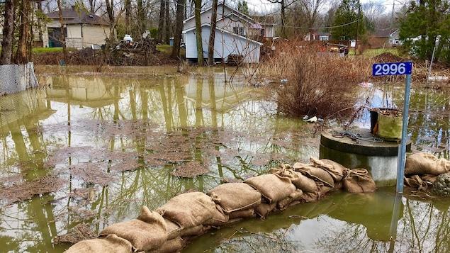 La ruelle Leo, dans le secteur de Cumberland, inondée