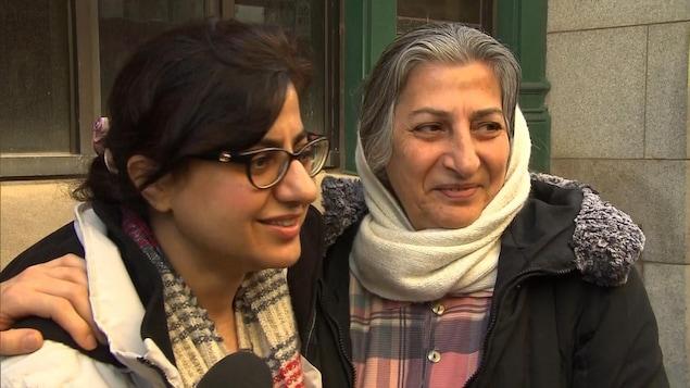 Sahar Bahrami et sa mère Roghayeh Azizi Mirmahaleh