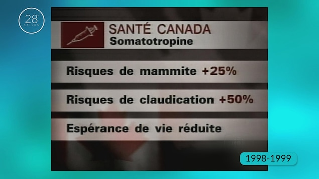 Un tableau des impacts possibles de l'hormone somatotropine lorsqu'elle est injectée aux vaches laitières.