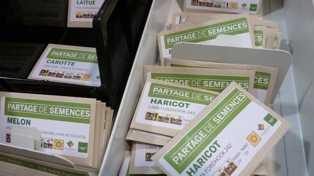 Des semences disponibles en prêt à la bibliothèque de Victoriaville