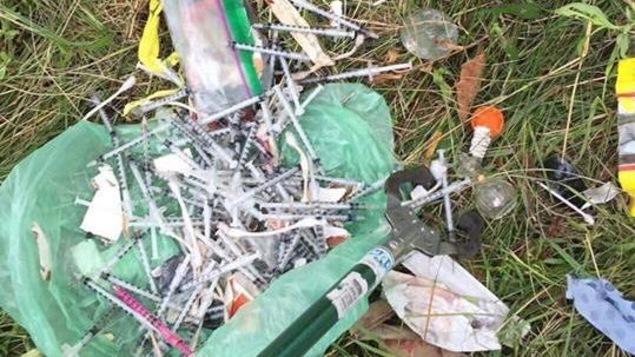Des seringues laissé à l'abandon