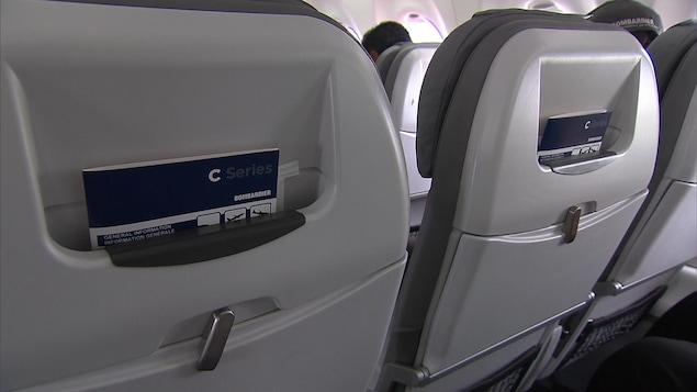 Siège d'un avion de la C Series de Bombardier