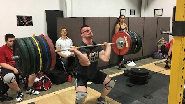 Simon Pratte en entraînement