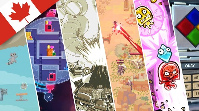 Les six jeux que nous avons essayés, de gauche à droite : Ultimate Chicken Horse, Lovers in a Dangerous Spacetime, Mercenary Kings, Moon Hunters, Toto Temple Deluxe et Keep Talking and Nobody Explodes.
