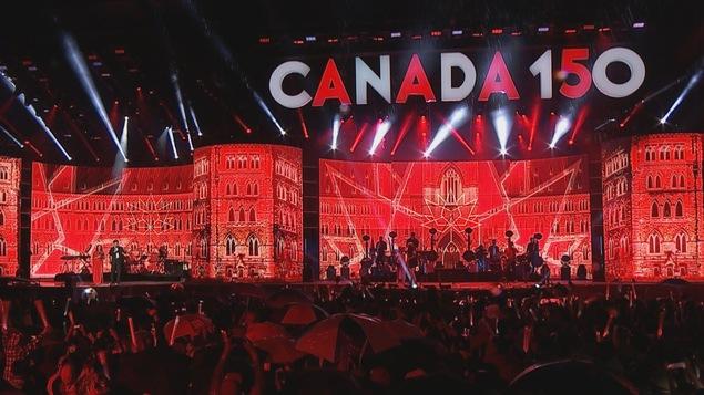 Une scène aux couleurs du Canada