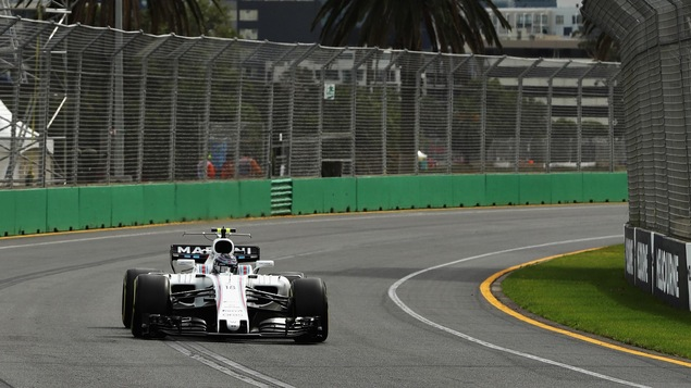 Lance Stroll lors de la première séance d'essais du GP d'Australie
