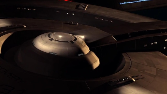 Le vaisseau spatial USS Discovery, dans la nouvelle série «Star Trek: Discovery».