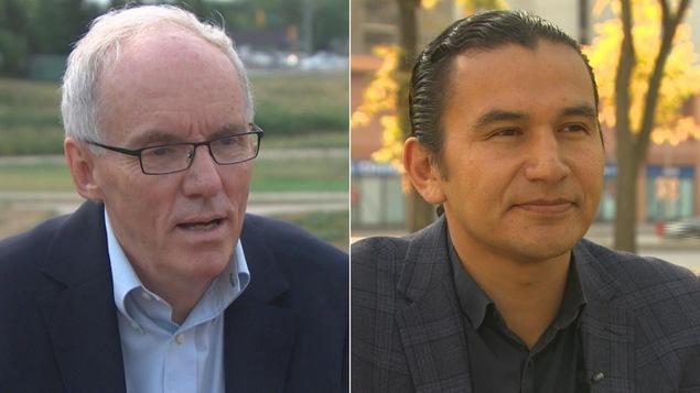 Les candidats à la direction du NPD du Manitoba : Steve Ashton et Wab Kinew