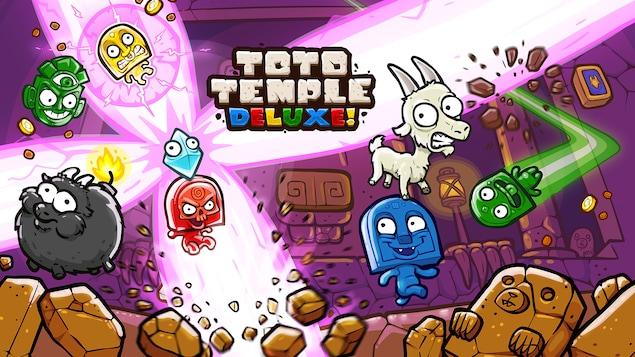 Image titre du jeu Toto Temple Deluxe du studio Juicy Beast