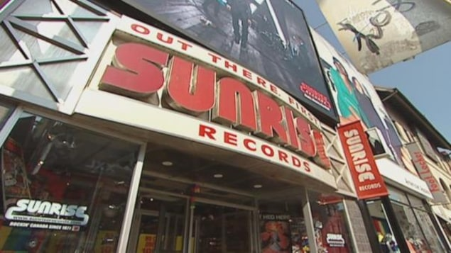 La façade d'un magasin de Sunrise Records