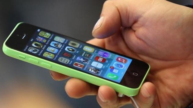 Un téléphone cellulaire