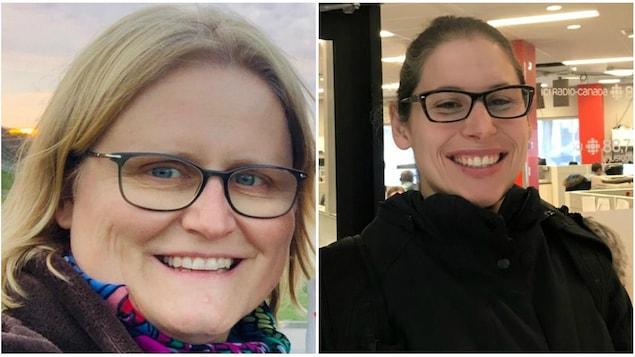 Un collage de Sabine Doebel-Atchison et Theresa Kliemf, toutes les deux souriantes.