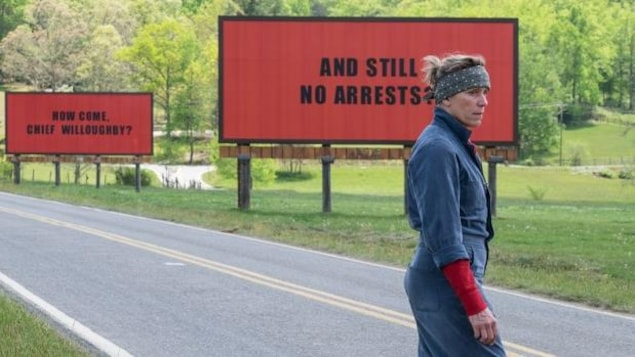 Frances McDormand dans le film Three Billboard Outside Ebbing, Missouri.