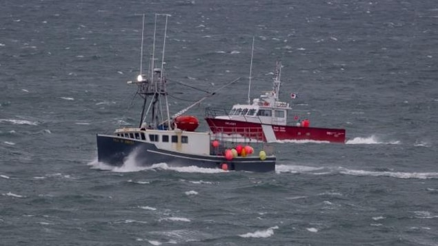 The Tide 'N Knots crew hope to head back out on the water on Friday. They were escorted back to port in Yarmouth Thursday by the Canadian Coast Guard vessel, Geliget.
