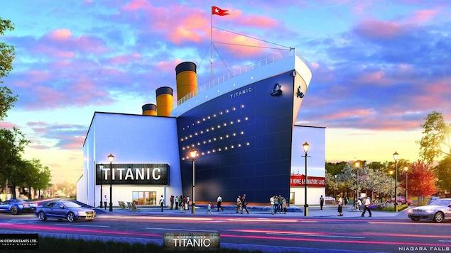 Vue de l'extérieur du musée interactif du Titanic qui est envisagé.