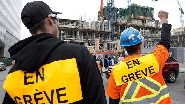 Travailleurs de la construction en grève (Archives)