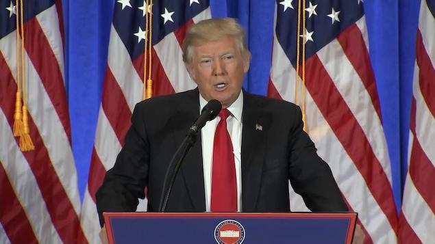 Donald Trump rencontre les médias pour la première fois depuis son élection.