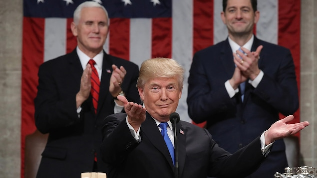 Donald Trump lors de son premier discours sur l'état de l'Union.