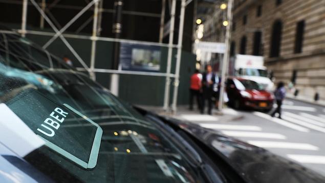 Un véhicule Uber dans les rues de New York
