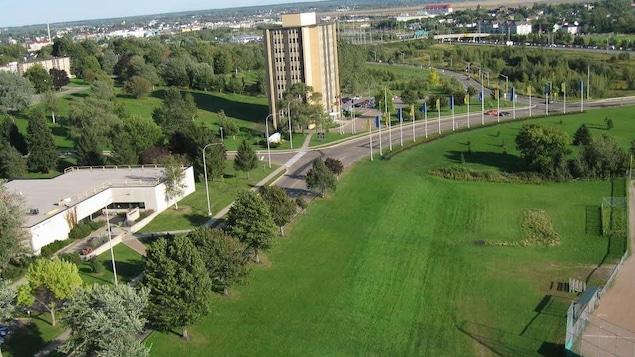 Vue aérienne du campus