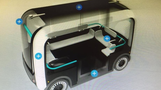 Une navette électrique autonome conçue par l'Université de l'Alberta