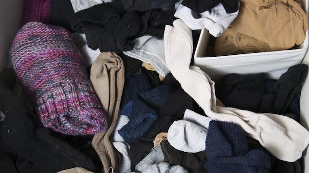 Chaussettes en désordre