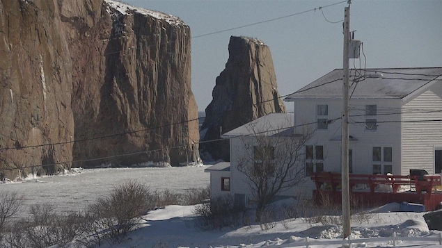 Village de Percé en hiver