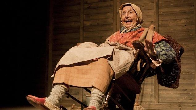Viola Léger dans le personnage de la Sagouine