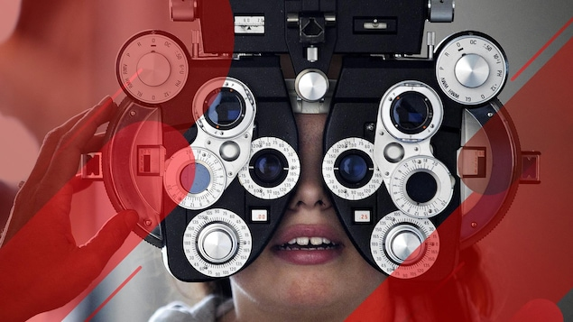 Un appareil d'examen de la vue.