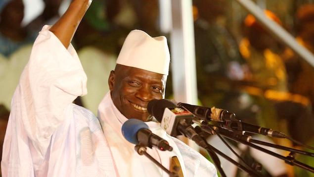Le président gambien sortant Yahya Jammeh