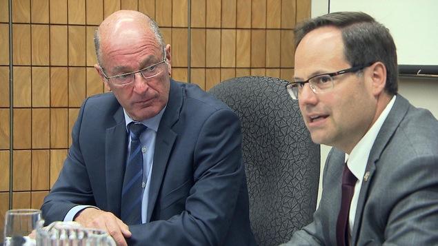 Les deux maires s'entendent sur les demandes pour le service ferroviaire sur la rive sud et la rive nord.