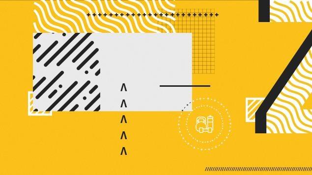 Formes abstraites sur fond jaune