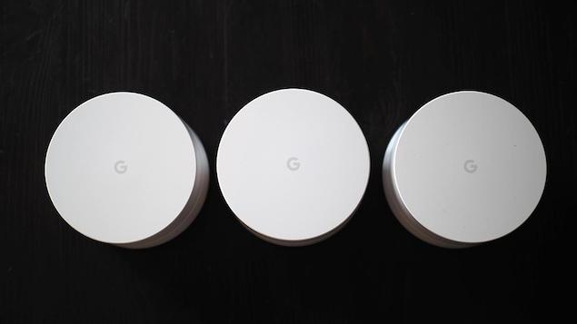 Les routeurs en réseau maillé Google Wifi.