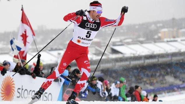 Alex Harvey lors des qualifications à Lahti