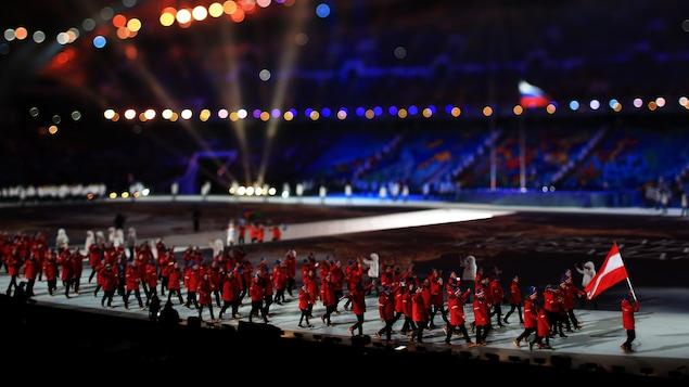 La délégation autrichienne aux Jeux de 2014 à Sotchi en Russie