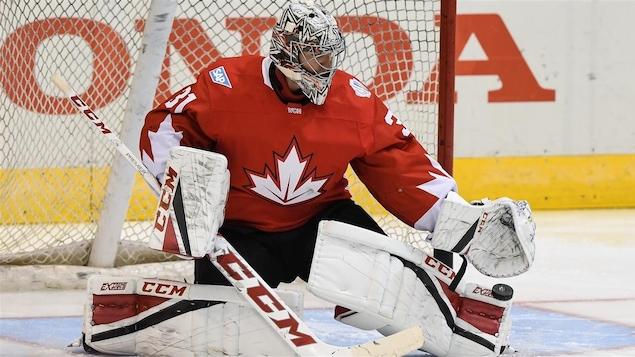 Le gardien Carey Price avec Équipe Canada